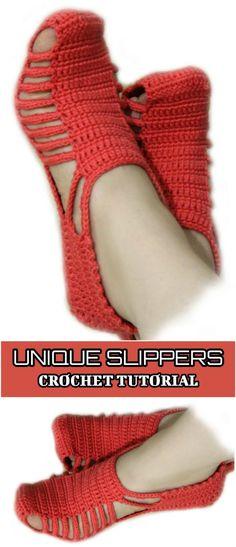 """Unique"" Slippers Crochet Tutorial - Yarnandhooks"