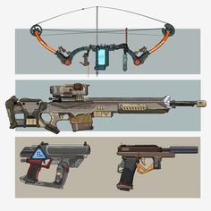 Some Sci-Fi based weapon designs. Commissioned works.