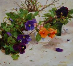 Purple Pansies - Kathy Anderson