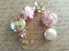 Upcycled Vintage Earring Bracelet One Of A by EmmaLynnTreasures, $34.00