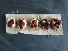 Roasted Grape Crostini — unexpected, but delicious.