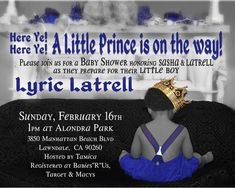 Little Prince Baby Shower Invitation for by WilsonPhotoAndDesign, $16.00