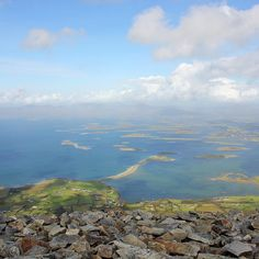 View from Croagh Patrick.....it was the first trip we made as a couple!  Tough climb but absolutely worth it!  .  .  .  #croaghpatrick #lovenature #loveireland #visitireland #socialmediamanagement #socialmedia #sociallearning #socialmediamanager