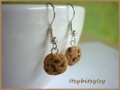 Cookie earrings on ItsybitsyIsy https://www.etsy.com/listing/154529493/cookie-earrings?ref=shop_home_active