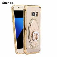 Soznoc For Samsung galaxy J2 J5 J7 2016 Prime A9 Pro S6 edge Plus S7 edge mobile phone Cover Case With Ring Stander Back Cover