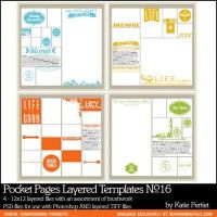 Pocket Pages Layered Templates No. 16