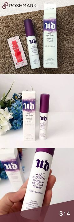 Urban Decay Makeup Setting Spray Brand new never used. Come with an Etude House lip stain sample Urban Decay Makeup Face Primer