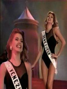 Miss Venezuela Alicia Machado, en su presentación en Traje de Baño, en el concurso de Miss Universe 1996 en la Ciudad de Las Vegas..
