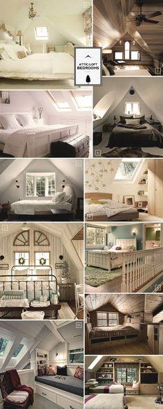 Unterm Dach Schlafzimmer mit Schrägen einrichten Pinterest