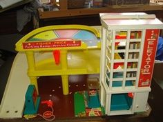 parking garage #fisher_price #little_people #vintage. One of my favorite toys!!!! I was a tomboy n still am!!!! Lol