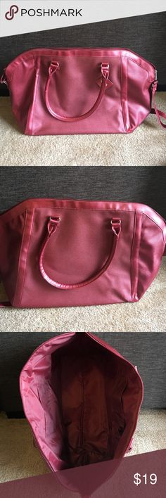 """Brand New Never Used Pink Overnight bag from Ulta! Brand New Never Used Pink Overnight bag from Ulta with tags. This bag measures 24L X 15HX 9W (9"""" bottom of the bag width!). It's great for overnights, the gym, or just a day bag! ulta Bags Travel Bags"""