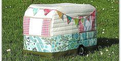 Vintage-Caravan Nähmaschine Abdeckung