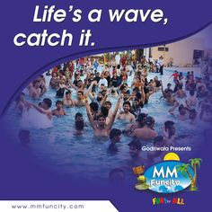 Splash around in the #MMFunCity wave pool. #WaterPark #WavePool #Slides