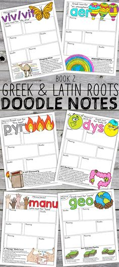 Doodle Notes (Sketch Notes) for Greek and Latin roots!!!