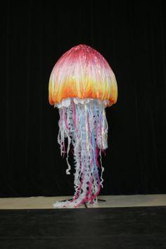 Internally illuminated Jelly Fish rod puppet for Disney JELLYFISH-WITH-LIGHTS