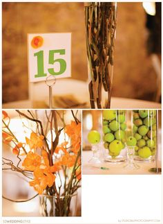 Vibrant Outdoor Sioux Falls Wedding By Studio Blu Photography.  Love the green apples