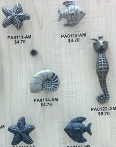 coastal sea life hardware
