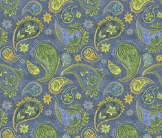 Pallavi_Paisley fabric by nicoletamarin on Spoonflower - custom fabric