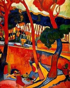 Crossing the road is one of artworks by Andre Derain. Artwork analysis, large resolution images, user comments, interesting facts and much more. Henri Matisse, Andre Derain, Paul Gauguin, Abstract Landscape, Landscape Paintings, Artwork Paintings, Fauvism Art, Art Timeline, Oil Canvas