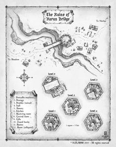 Harun Bridge - abandoned commission for RPG.PLASSE 2015 - All rights reserved Rpg Map, Lotr, Map Maker, Adventure Map, Dungeon Maps, Pathfinder Rpg, Fantasy Map, Location Map, Map Design