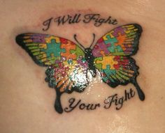 Autism tattoo. I absolutely love it!!
