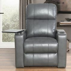 Latitude Run Fairfax Power Recliner Upholstery: Gray