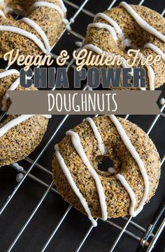VEGAN CHIA SEED DOUGHNUT RECIPE WITH WHIPPED COCONUT CREAM via @BlenderBabes   This vegan and gluten-free chia seed doughnut recipe with whipped coconut cream from The Oh She Glows Cookbook by Angela Liddon is proof that not all doughnuts have to be the unhealthy kind.