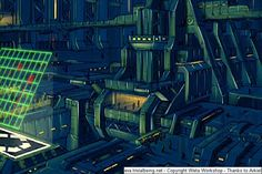 Central Dogma command station from Evangelion concept art