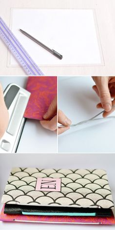 Follow this tutorial to DIY a chic notebook.