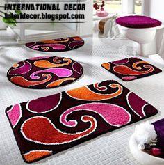 Bathroom carpets, bathroom rugs models, colors