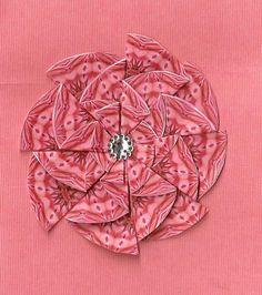 zig zag round tea bag fold