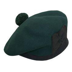 Scottish wool scot's green beret glengarry hat Scottish Hat, Green Beret, Beanie, Wool, Hats, Fashion, Moda, Hat, Fashion Styles