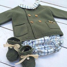 Conjuntos ideales! Bebés calentitos y súper cómodos sin renunciar a la dulzura de @micanesu #baby #shoponline #cute #verde #caza #culotte #cuadros #vincci #patucos #lana #ropitaparabebe