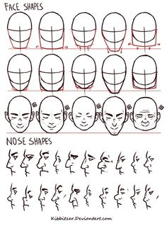Face Shapes by Kibbitzer  kibbitzer.deviantart.com