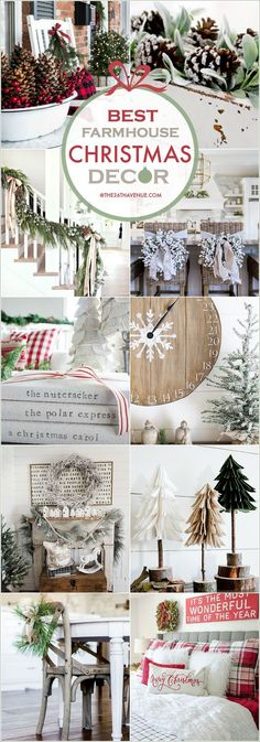 Beautiful Christmas decorations for your home. The post Farmhouse Christmas Decor Ideas. Beautiful Christmas decorations for your . Beautiful Christmas Decorations, Decoration Christmas, Farmhouse Christmas Decor, Noel Christmas, Merry Little Christmas, Country Christmas, Christmas Projects, Winter Christmas, Vintage Christmas