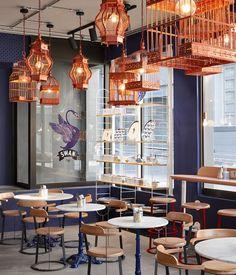 Interiors at Swan Café by Haldane Martin