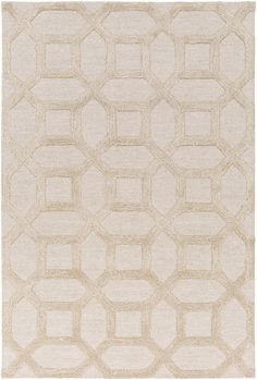 Marla Ivory Geometric Wool Hand-Tufted Area Rug