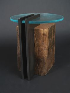 Image result for cylinder reclaimed wood table