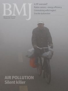 This cover story is taken from two papers investigating air pollution and health. All of this issue's content can be found here http://www.bmj.com/content/348/7943