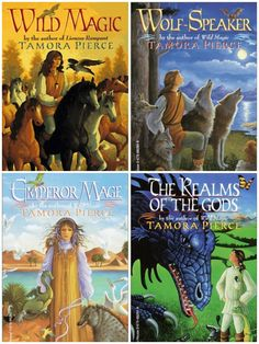 The Immortals Series by Tamora Pierce  Wild Magic - Wolf Speaker - Emperor Mage - Realm of the Gods