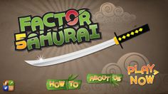 FREE app July Factor samurai is a great way to learn times tables. You play as the samurai whose sacred duty is to cut all the numbers down to their prime factors. Math Stations, Math Centers, Free Math Apps, Composite Numbers, Prime And Composite, Prime Factorization, Factors And Multiples, Fun Math, Maths