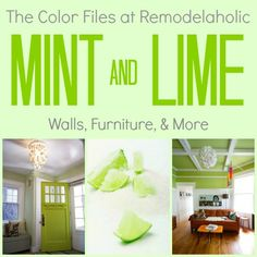 Two of the trendiest colors for 2013...Mint & Lime Green...featured this week at Remodelaholic...Just painted our Living Room & Bedroom in greens :)