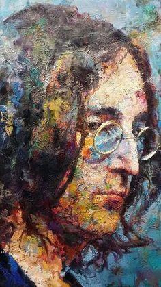 Street Art - John Lennon- by Cris Figueired♥ Les Beatles, Beatles Art, Beatles Museum, Urbane Kunst, Arte Pop, Street Art Graffiti, Graffiti Artwork, John Lennon, Public Art