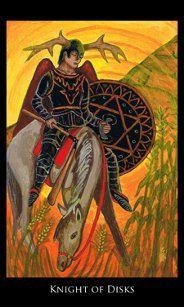 Knight of Disks - Rosetta Tarot