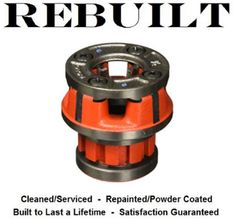 "Ridgid 36880 00-R Pipe Threader Die Head, 1/4"" NPT, With Standard Alloy RH Dies #Ridgid"