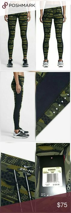 Nike Camo Legging Running Tights Pants Epic Lux New with tags. Perfect condition. No trades. Nike Pants