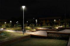 Parque de Samaca - después (simulación de noche)