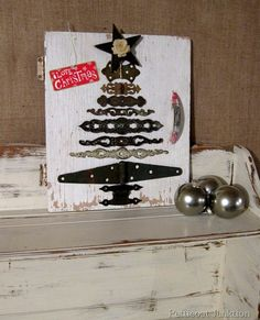 DIY Christmas Tree from Reclaimed Hardware.... Great Gift Idea