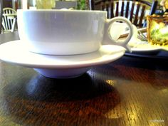 Here is the cup and saucer at Recompense. I like the depth of the saucer. It reminds me of a flying saucer. ;)