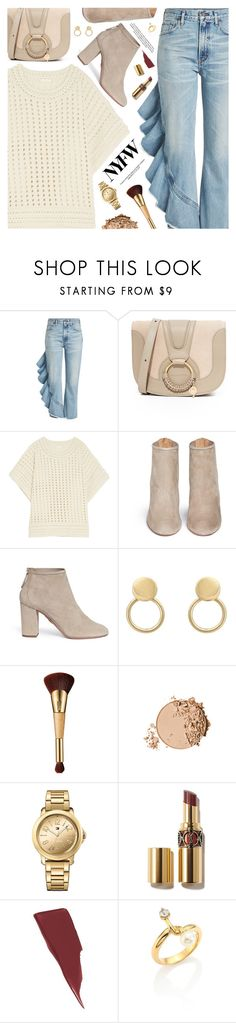 """What to Wear to NYFW"" by pokadoll ❤ liked on Polyvore featuring Citizens of Humanity, See by Chloé, Chloé, Aquazzura, tarte, Tommy Hilfiger, Maybelline, NYFW, polyvoreeditorial and polyvoreset"